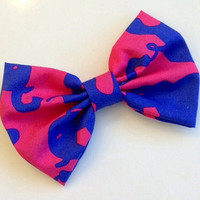 "Lilly Pulitzer ""Tusk in Sun"" Fabric Hair Bow"