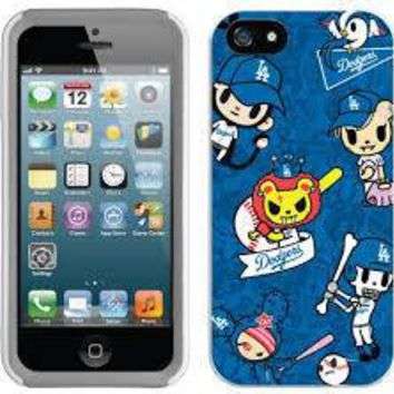 Coveroo MLB Los Angeles Dodgers Tokidoki Pattern iPhone 5 5s Thinshield Snap Case