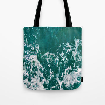 Emerald Waters Tote Bag by ARTbyJWP