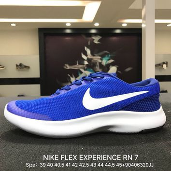 Nike Flex Experience RN 7 Men Blue White Sports Running Shoes - 908985-401