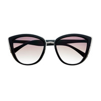 Womens Retro Vintage Style Oversized Cat Eye Sunglasses Shades C58
