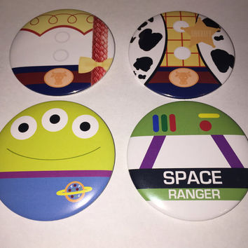 Toy Story Characters Set of 4 Buttons
