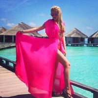 Plain Chiffon Beach Bikini Cover Up
