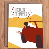 valentine's day card / happy dogs