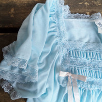 Vintage Baby Blue Night Gown