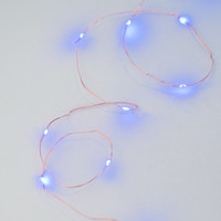 Vintage Blue String Lights