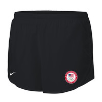 Women's Nike Black Team USA Mod Tempo Performance Shorts