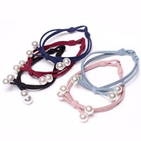 Cute Women Girl Pearl Hair Band Ties Elastic Rope Ring Hairband Ponytail Holder