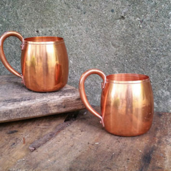 Vintage Solid Copper Moscow Mule Mugs West Bend Aluminum Company