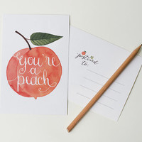 You're a peach / postcard by oanabefort on Etsy