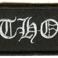 Bathory Iron-On Patch Rectangle White Letters Logo