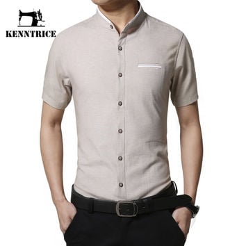 New Arrival Summer Shirt Men's Shirts Short Sleeve Twill Men Dress Shirts Cotton Blouse Soft Popular