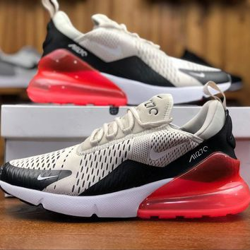 Nike Air Max 270 Light Bone Sport Running Shoes AH8050-003 - Best Online Sale