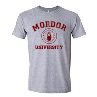 Mordor University Lord Of The Ring Men Shirt size S to 2XL Color Heather Grey
