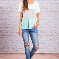 Pocket Full Of Fun Top, Mint