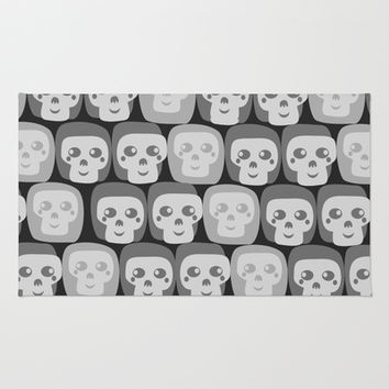 Boo - Skulls Pattern Area & Throw Rug by All Is One
