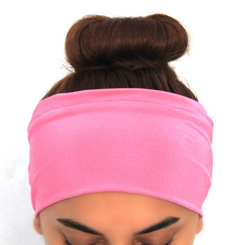 pink jersey yoga hairband, headbands,Pilates headbands,headbands,yoga headbands