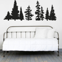 Wall Decal Vinyl Sticker Set Trees Flower Branch Forest foliage  r1360