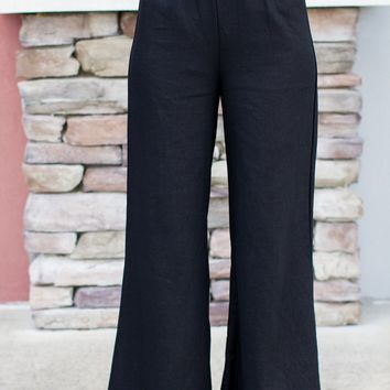 Chic Linen Wide Leg Pants
