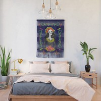 Novia De Los Muertos Wall Hanging by gx9designs