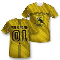 Exclusive Personalized Hufflepuff Crest Adult Quidditch Jersey | HarryPotterShop.com