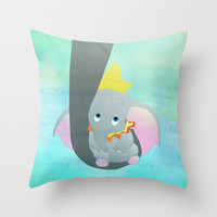 dumbo and his mom Throw Pillow by Studiomarshallarts