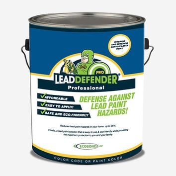 ECOBOND LBP 1 gal. Lead Defender PRO Off White Flat Interior/Exterior Paint and Primer Lead Paint Sealant and Treatment-ECO-LBP-1001-P - The Home Depot