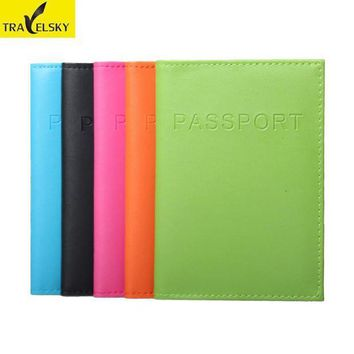 CREYCI7 RFID passport holder travel RFID protect passport card PU leather 5colors tickets holder 1 pcs free shipping 13594