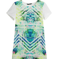 Summer Print Short Sleeve One Piece Dress [6045387009]