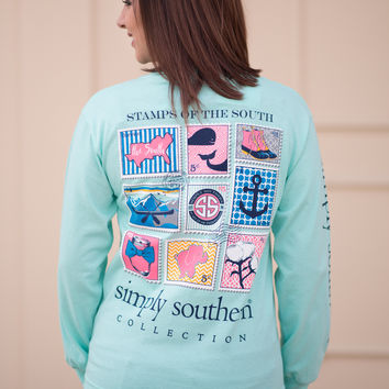 Simply Southern Long Sleeve Stamp Tee