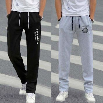 Boys Men's Casual Sports Pants Joggers Bottoms Tracksuit Trousers Sweatpants USA