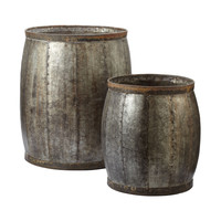 Fortress Drums - Set of 2 Distressed Silver