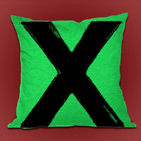 Ed Sheeran X on Decorative Pillow cover by ShimbonPillow