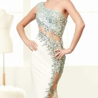 One Shoulder Gown by Mac Duggal Prom