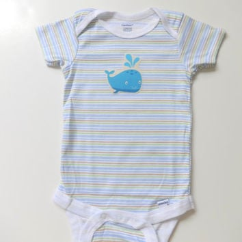Baby boy Onesuit, Baby boys whale Onesuit, Boys appliqued Onesuit, Baby boy one piece shirt, Baby boy clothes 12 months, Boy whale shirt