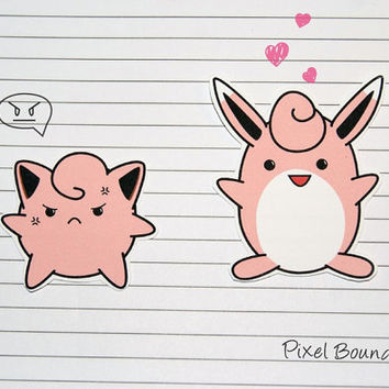 Jigglypuff/Wigglytuff Stickers and Magnets