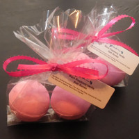 Black Raspberry and Vanilla Bath Bombs, Handmade Bath Fizzy, Bath Bombs, Made To Order,