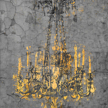 Gothic Grey Chandelier by Suzanne Powers