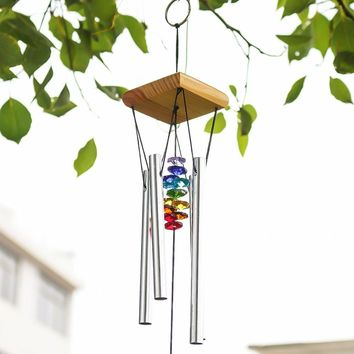 Wind Chimes with Rainbow Chakra Sun Catchers Crystal Ball Prism Wind chime