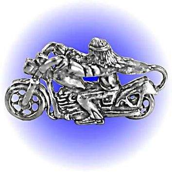 Biker Easy Rider Pewter Figurine  Lead Free.