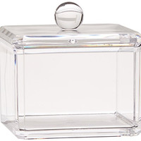 Danielle Square Acrylic Cotton Ball Holder, Single Tier