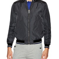 Prada Linea Rossa Men's Printed Nylon Bomber Jacket - Black -