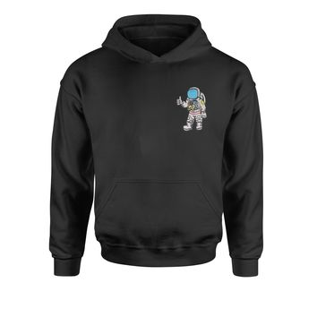 Embroidered Astronaut in a Space Suit Patch (Pocket Print) Youth-Sized Hoodie