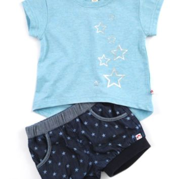 Outlet Appaman Stars Tee & Bubble Shorts Set