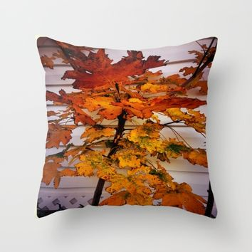Fall Throw Pillow by Jessica Ivy