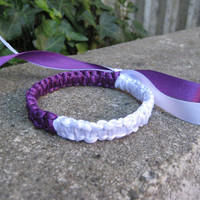 Vivid Purple and White Bangle