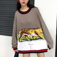 Gucci Long Sleeve Hooded Tank Print Tattoo Sweater Tagre™