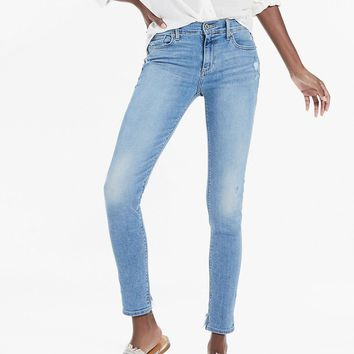 Lucky Brand Brooke Mid Rise Destroyed Hem Jean