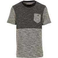 River Island MensBlack Holloway Road contrast knitted t-shirt