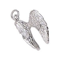 Rembrandt Charms Angel Wings Charm, Sterling Silver